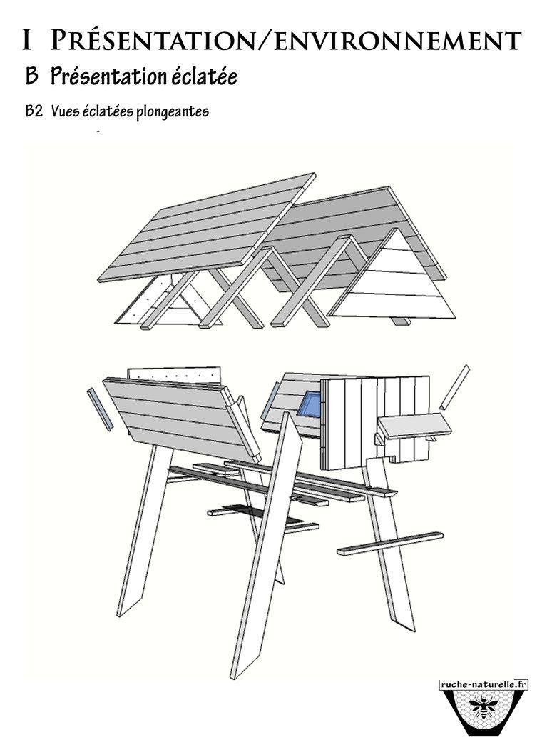 comment construire une ruche horizontale avec des palettes bricolage et diy pinterest. Black Bedroom Furniture Sets. Home Design Ideas