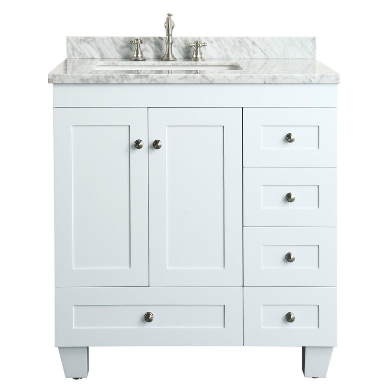 Eviva Acclaim 30 In Single Bathroom Vanity Set White Vanity