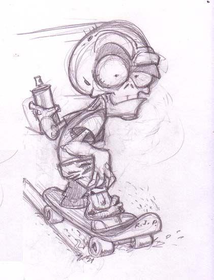 dibujos de graffitis chidos zombie ilustraciones y demás