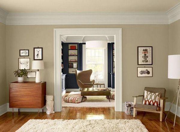 Perfect Beige Wall Paint Living Room Orange Living Room