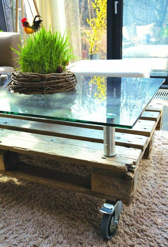 idee de meuble pour le salon la table basse palette
