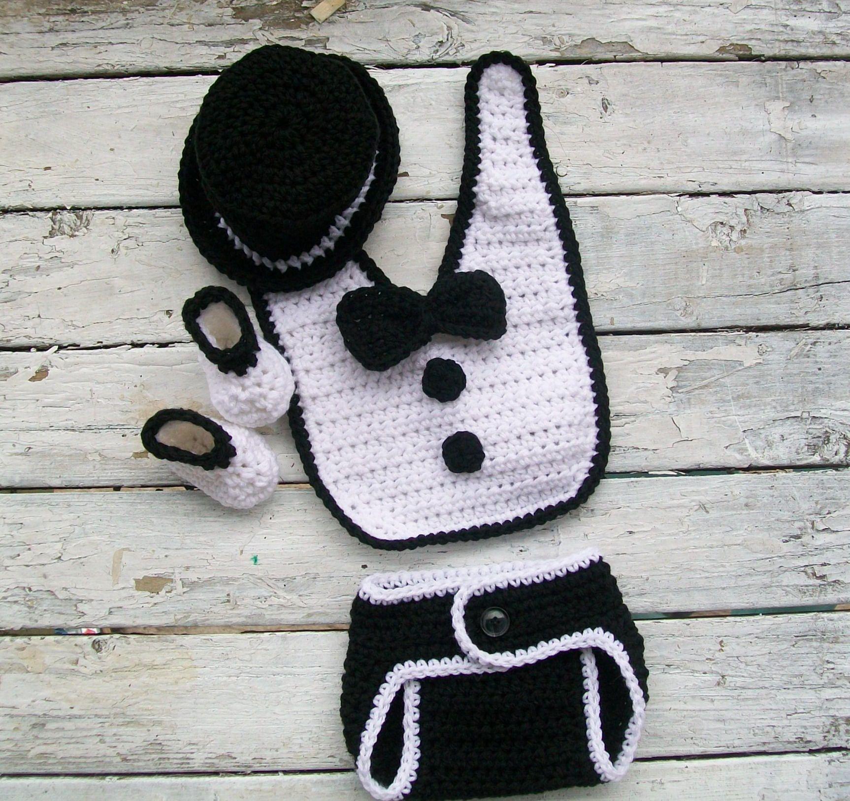 Crochet Pattern, Baby tuxedo pattern, Baby crochet pattern, Newborn ...