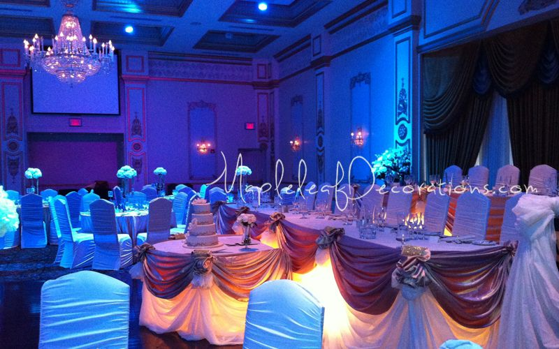 The Venetian banquet Hall head table wedding decorations by