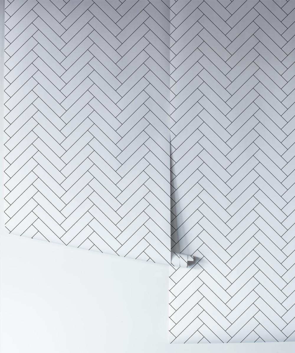 Tile Progress Wallpaper Simple Tile Herringbone Milton King Herringbone Wallpaper Design Theory Modern Scandinavian Design