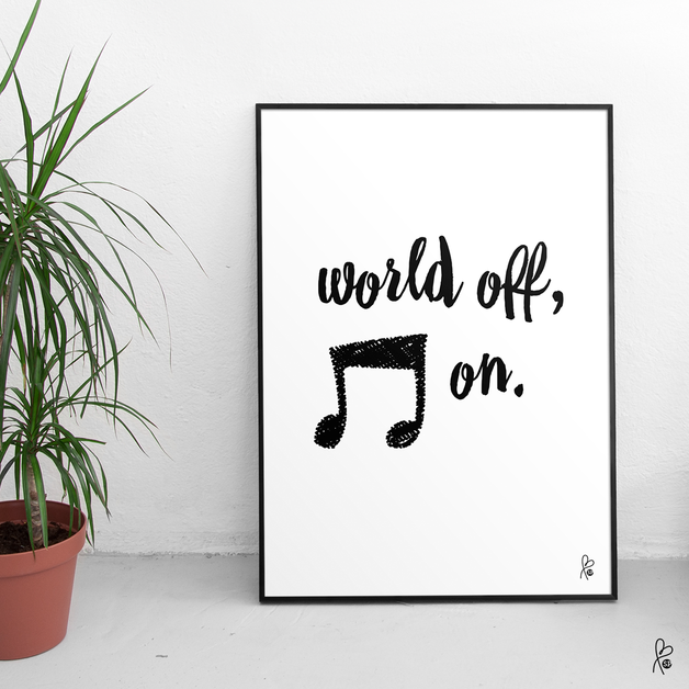 printable pdf plakat musik black music wandgestaltung schwarz wei und poster. Black Bedroom Furniture Sets. Home Design Ideas