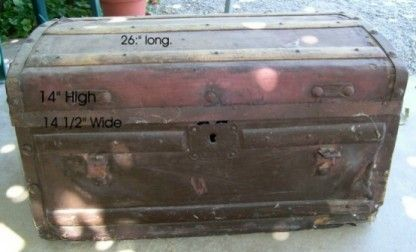 Leather covered trunk restoration