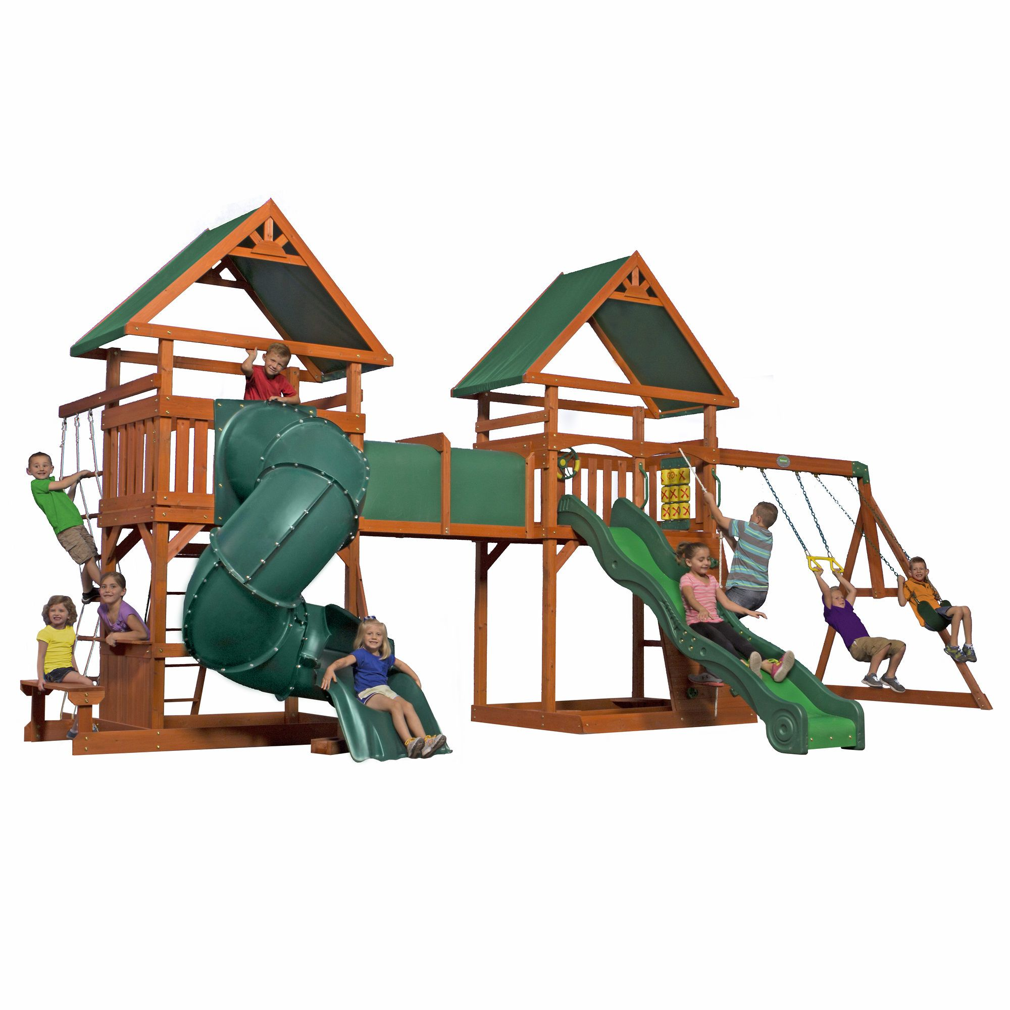 Backyard Discovery Grand Towers All Cedar Swing Set