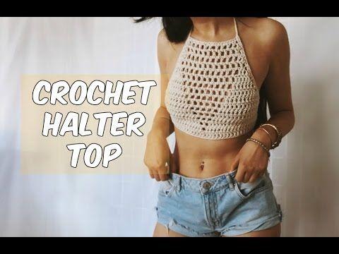 DIY Crochet Halter Top Tutorial - Free Pattern with written ...