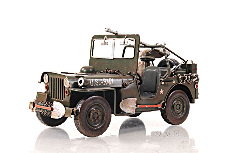 1940 Willys Overland Army Military Jeep Quad Metal Model 11 Automotive Willys Military Jeep Jeep