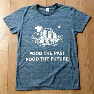 さかなを+なむTシャツ FOOD THE PAST FOOD THE FUTURE!  plus sakana project original T-shirt
