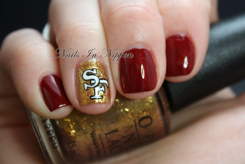 Nails In Nippon 49ers Nails Nails Sports Nails