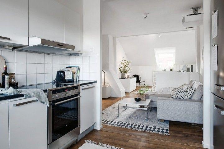 mini pisos pequeños deco espacios abiertos decoración mini aticos