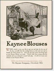 Vintage Halloween Ad ~ Kaynee Blouses ©1921