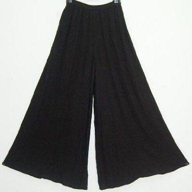 Black Palazzo Split Skirt Gaucho