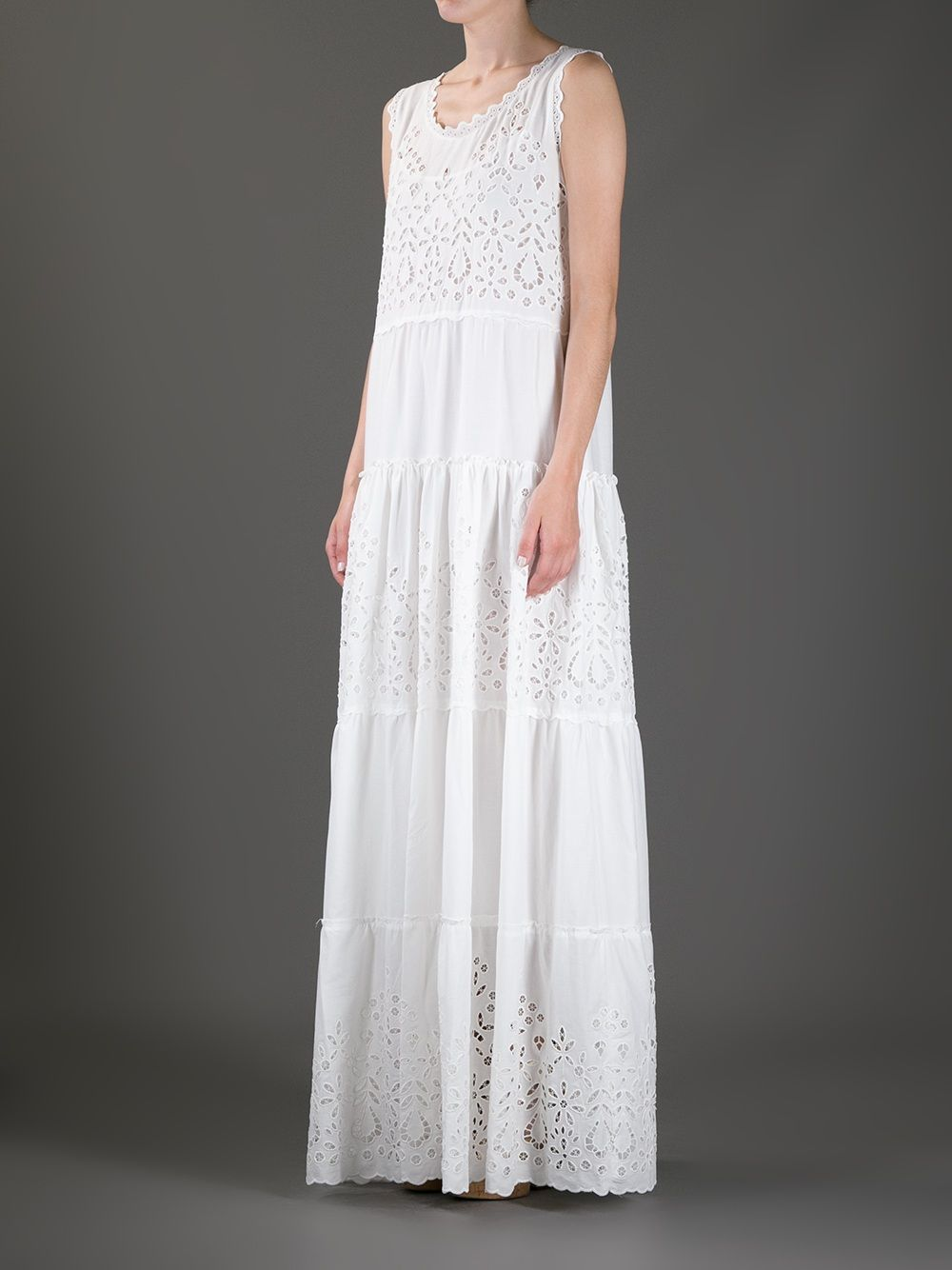 3a96835c195c Women's White Eyelet Maxi Dress | What to Wear 1? Tops/Tunics ...