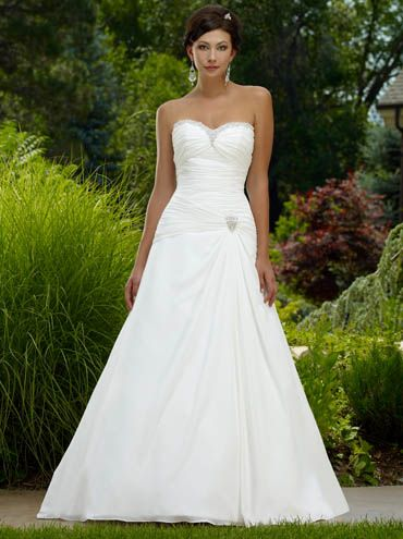Get Intrigued With A Line Wedding Dresses