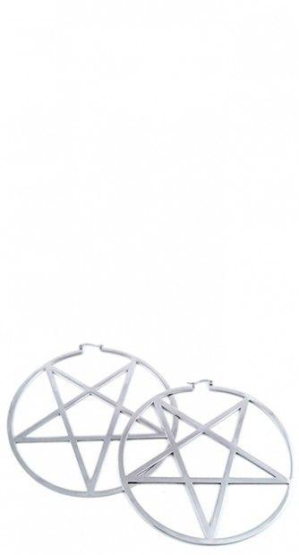 Complete your look with these pentagram earrings! #blamebetty #pentagram #earrings