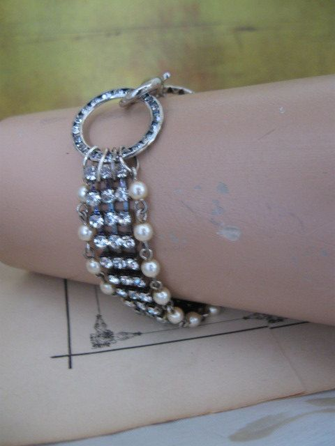 Embraced ... vintage repurposed rhinestone faux by OhMyGypsySoul