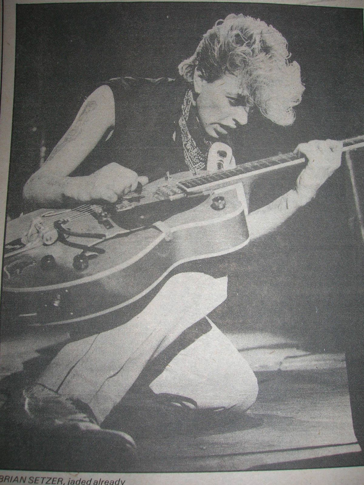 VINTAGE 1981 STRAY CATS BARRACUDAS REVIEW AD ARTICLE