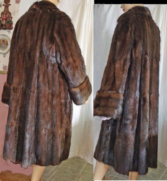 Vintage 50s Mink FUR Coat Full Length by susiesboutiquecloths ...