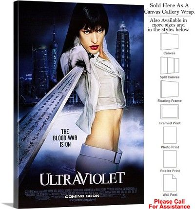 "Ultraviolet Famous Action Movie Theater 2006 Art Canvas Wrap 20"" x 30"""