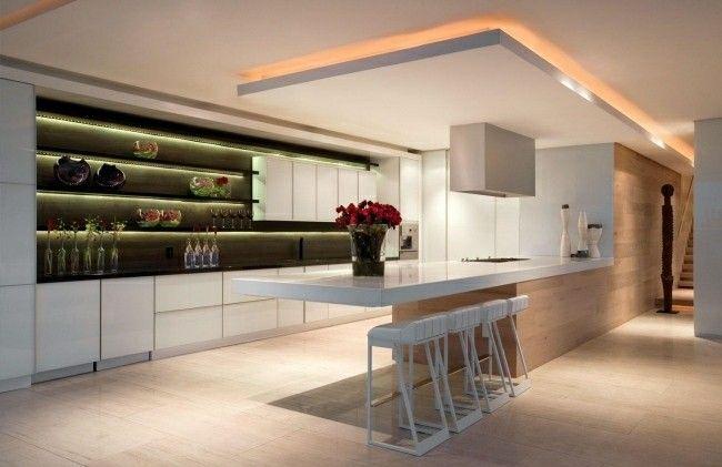 Cocina moderna o tradicional - cien diseños interesantes Searching - Techos Interiores Con Luces