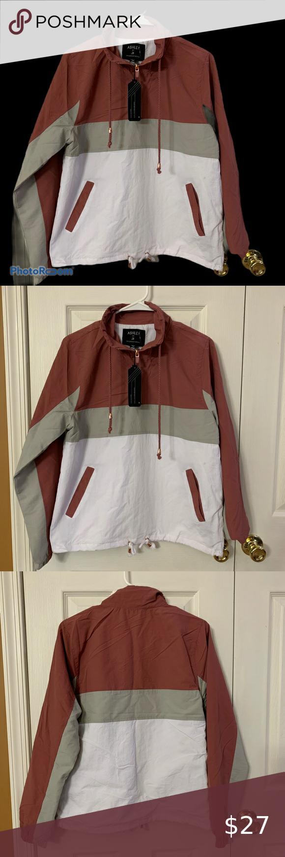 Ashley Outerwear Jacket Pullover Medium Nwt Super Cute Pullover Windbreaker Ashley By 26 International Outerwear Jackets Clothes Design Pullover Windbreaker [ 1740 x 580 Pixel ]