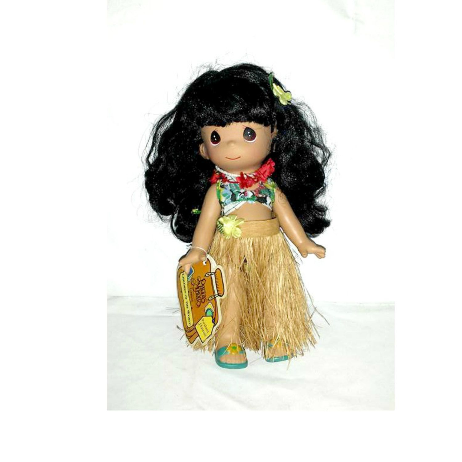 Precious Moments Hawaii Doll,Vintage Hula Doll,Precious Moments,Children of the World,Hawaii Doll,Pualani,Vintage Doll,Hula,1990s by JunkYardBlonde on Etsy