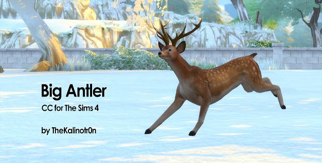 Antlers By Kalino Sims 4 Mods Haustiere
