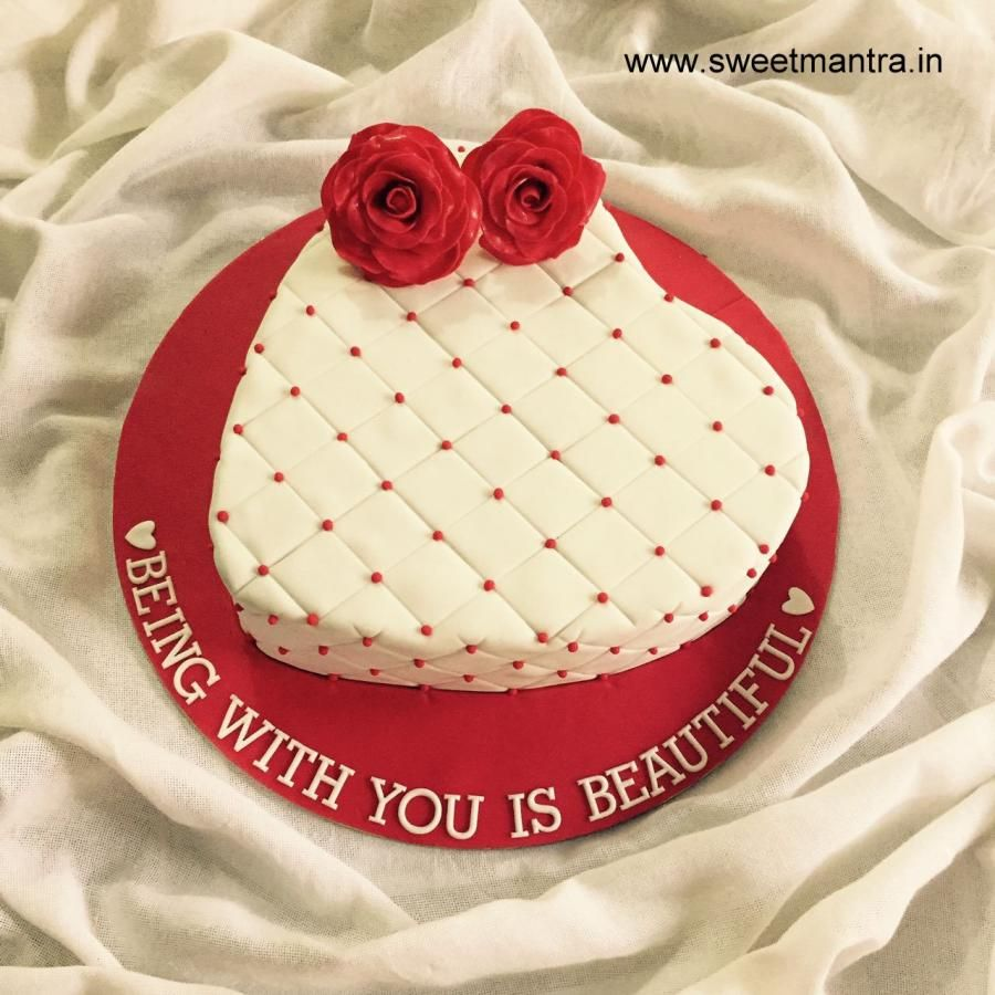 Customized Heart Shaped Cake For Valentines Day By Sweet Mantra
