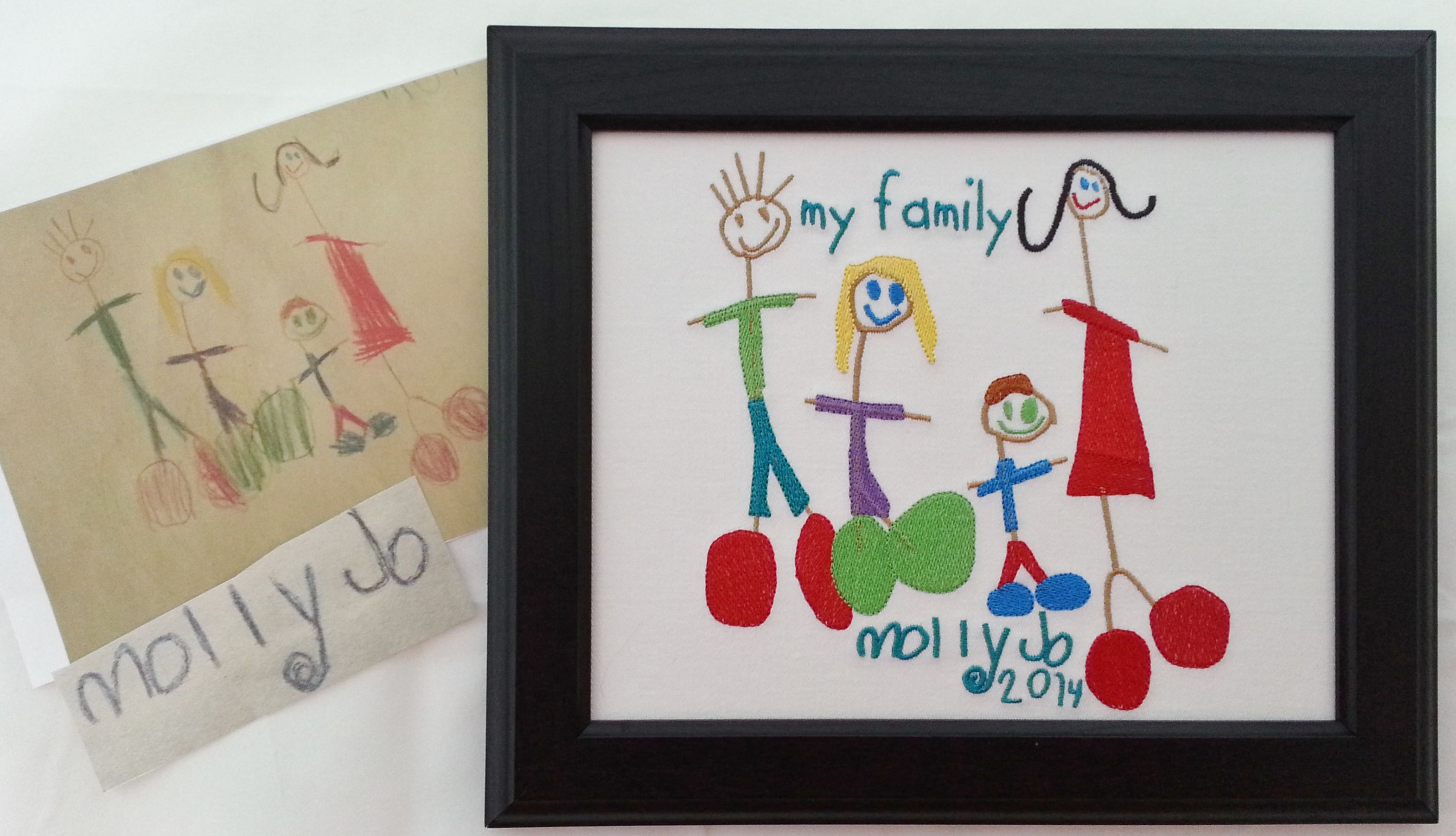 A classic picture of every child's vision of their family.  This was done by Molly Jo.