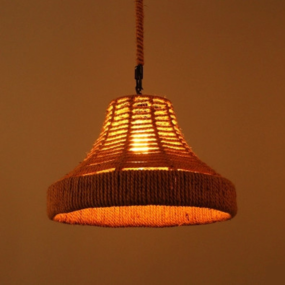 66.73$  Watch now - http://alival.worldwells.pw/go.php?t=32784247789 - Retro Rope Pendant Lights Loft Vintage Lamp Industrial Lighting By E27 Bulb For Aisle Diningroom Decoration Led Pendant Lamp  66.73$