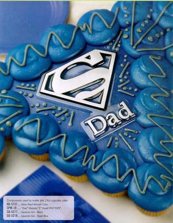 Super Dad Cupcakes Could Use Fondant To Make The Plaque With