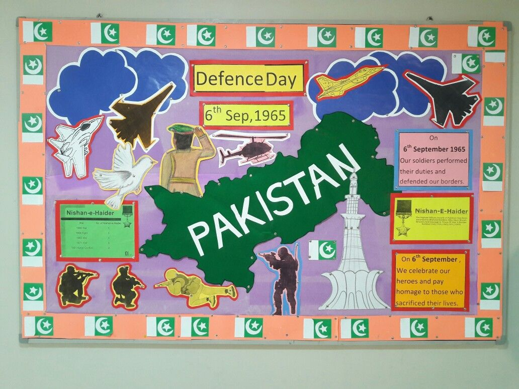 Defence Day Of Pakistan Board By Sunera Saleem Camping Theme