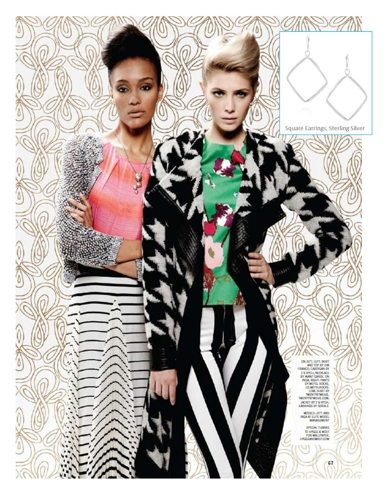 Soria Z. Square Earrings in BUST Magazine