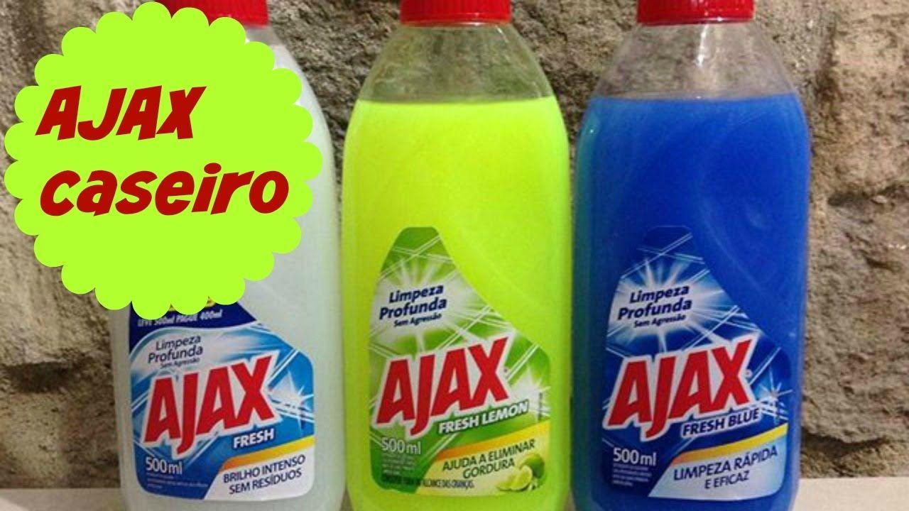 Ajax Caseiro Multiuso Desengordurante Para Limpeza Pesada Com