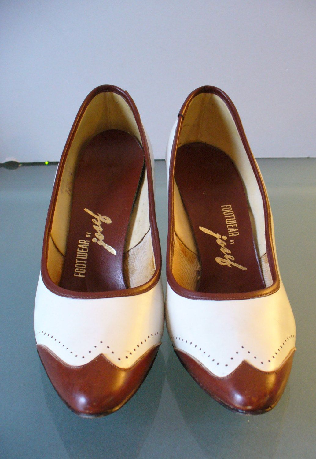 d0af8977320 Vintage Josef Brown & White Spectator Pumps by TheOldBagOnline on ...