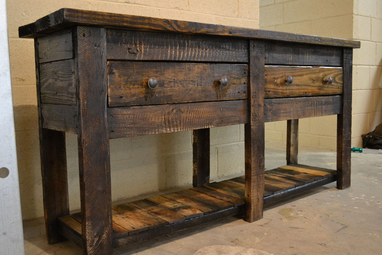 Primitive Pallet Buffet Server Table 400 00 Via Etsy Decor Furniture Reclaimed Pallet Furniture