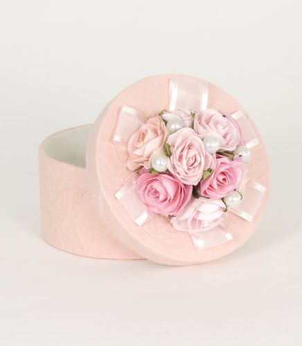 Amazon Com Glenna Jean Lucy Small Pink Rose Pearl Box Baby