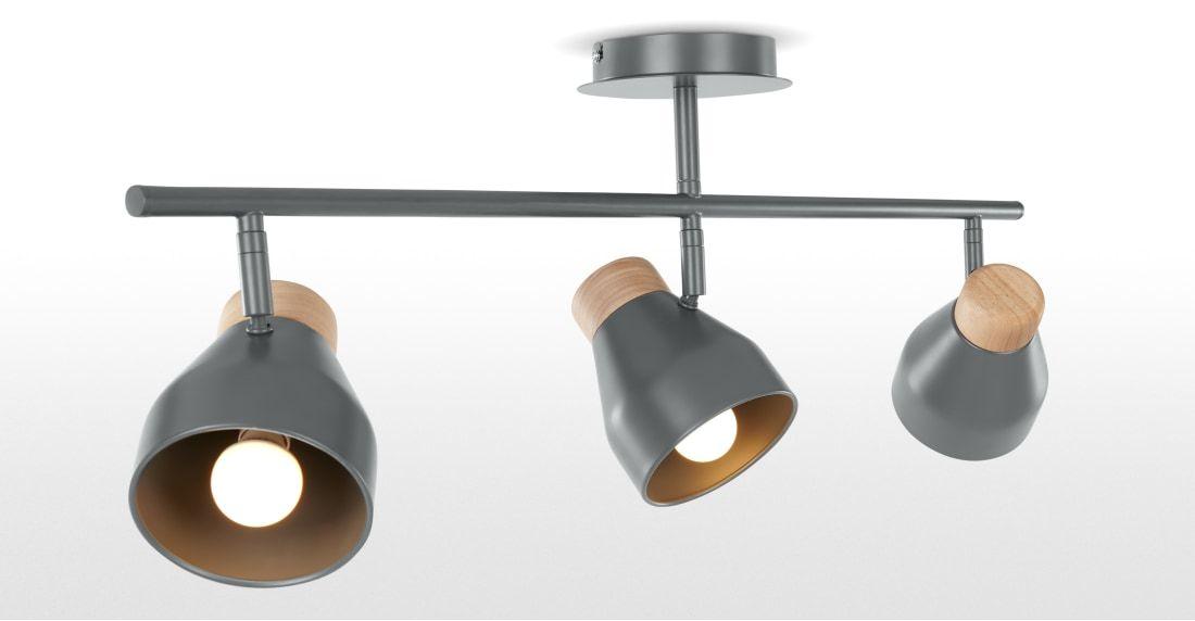 albert ceiling spotlight bar charcoal grey  ceiling