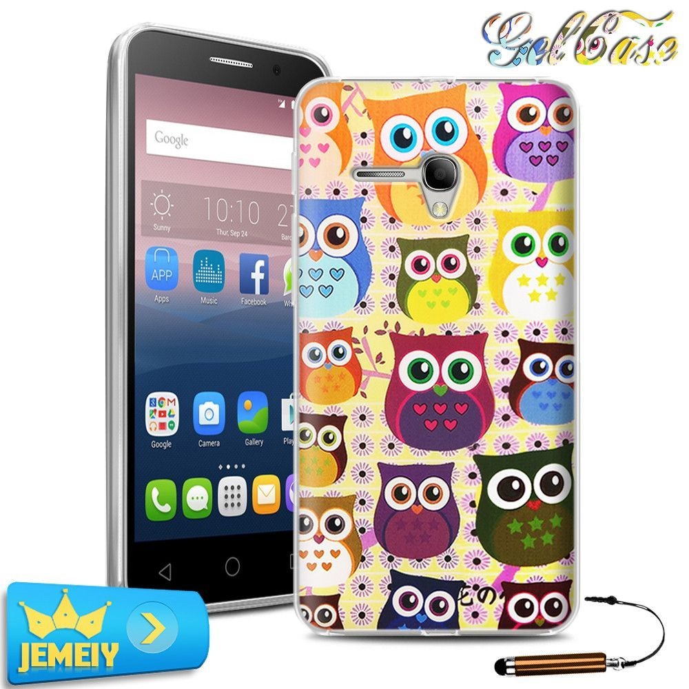 5025D UV Printed TPU Gel Case For Alcatel One Touch Pop 3 5.5 5025D 5025 Back Cover Soft Silicone Bag Skin Tempered glass