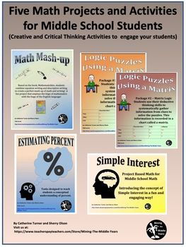 Math Projects and Activities for Middle School   Math ...