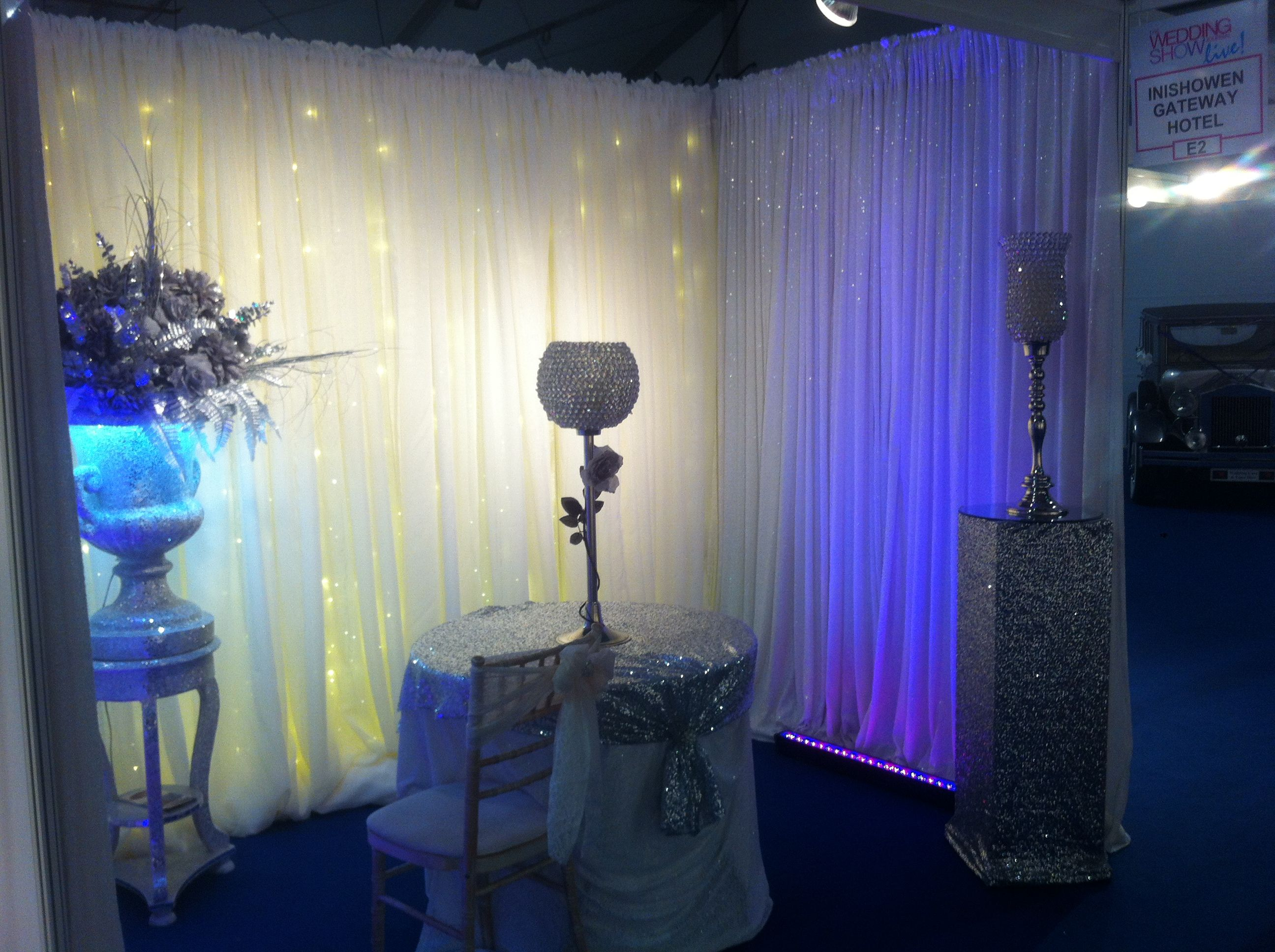 Our dressing of The Inishowen Gateway stand at The Kings Hall wedding fayre last weekend