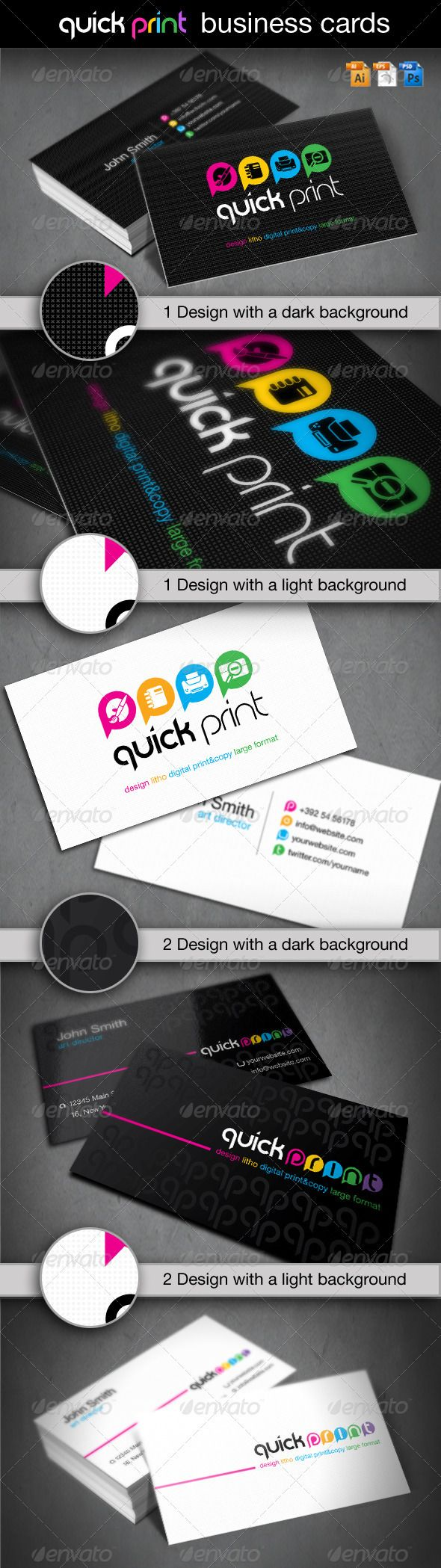 quick print business card template psd vector eps vector ai download here - Quick Print Business Cards