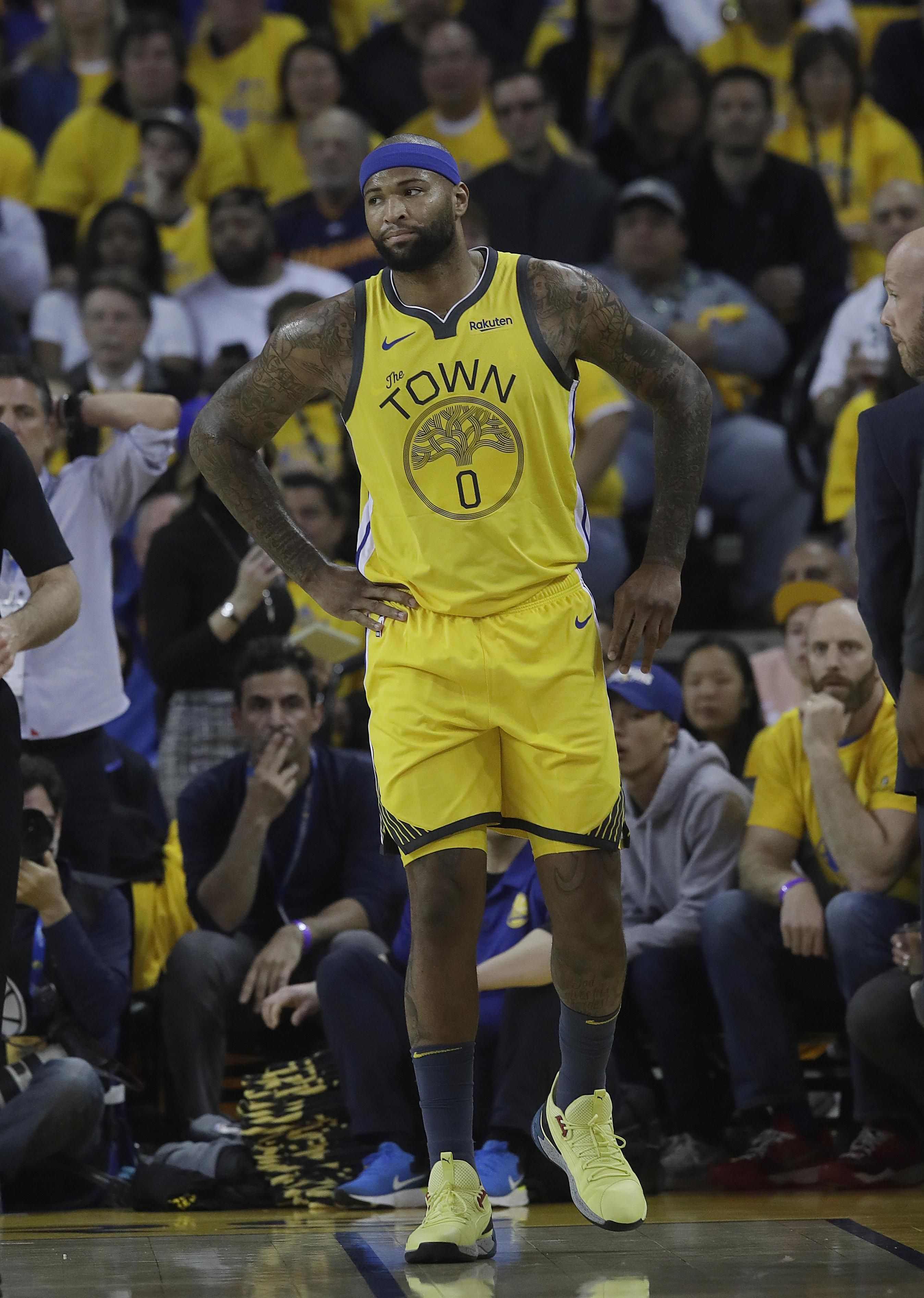Warriors Say Demarcus Cousins Available For Game 1 Of Nba Finals Nba Finals Nba Warrior