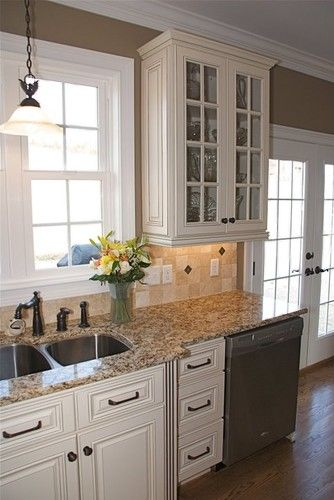 Hampton Linen - traditional - kitchen cabinets - other metro