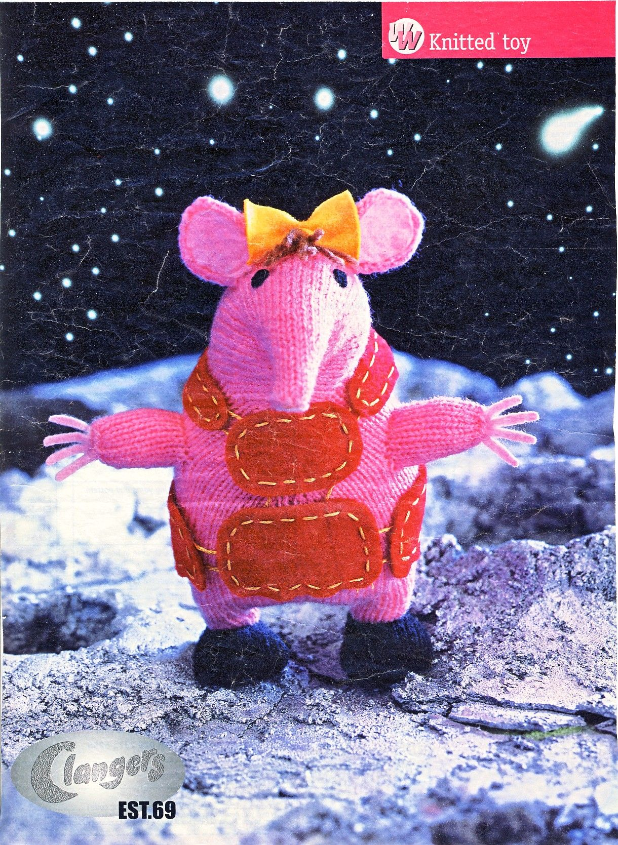 Clangers knitting pattern for Tiny the Clanger. Start price only ...