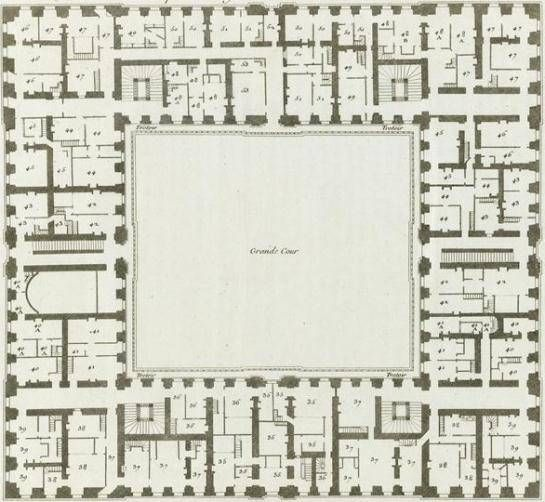 plan of the first floor of the grant commun 18th century stuff pinterest versailles. Black Bedroom Furniture Sets. Home Design Ideas