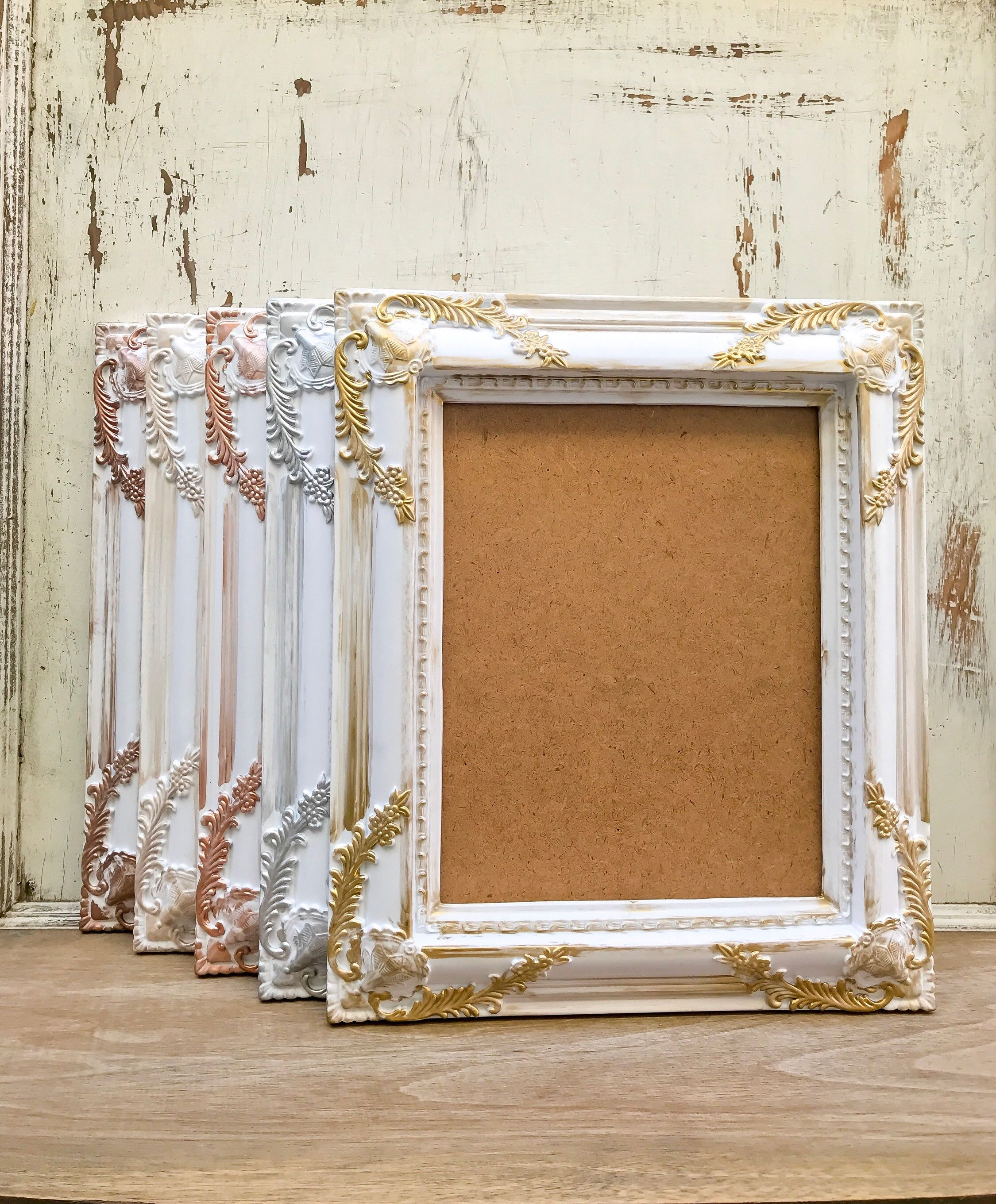 "8 x 10/"" Ornate Photo Frame in a French Cream Vintage French Shabby Chic Style"