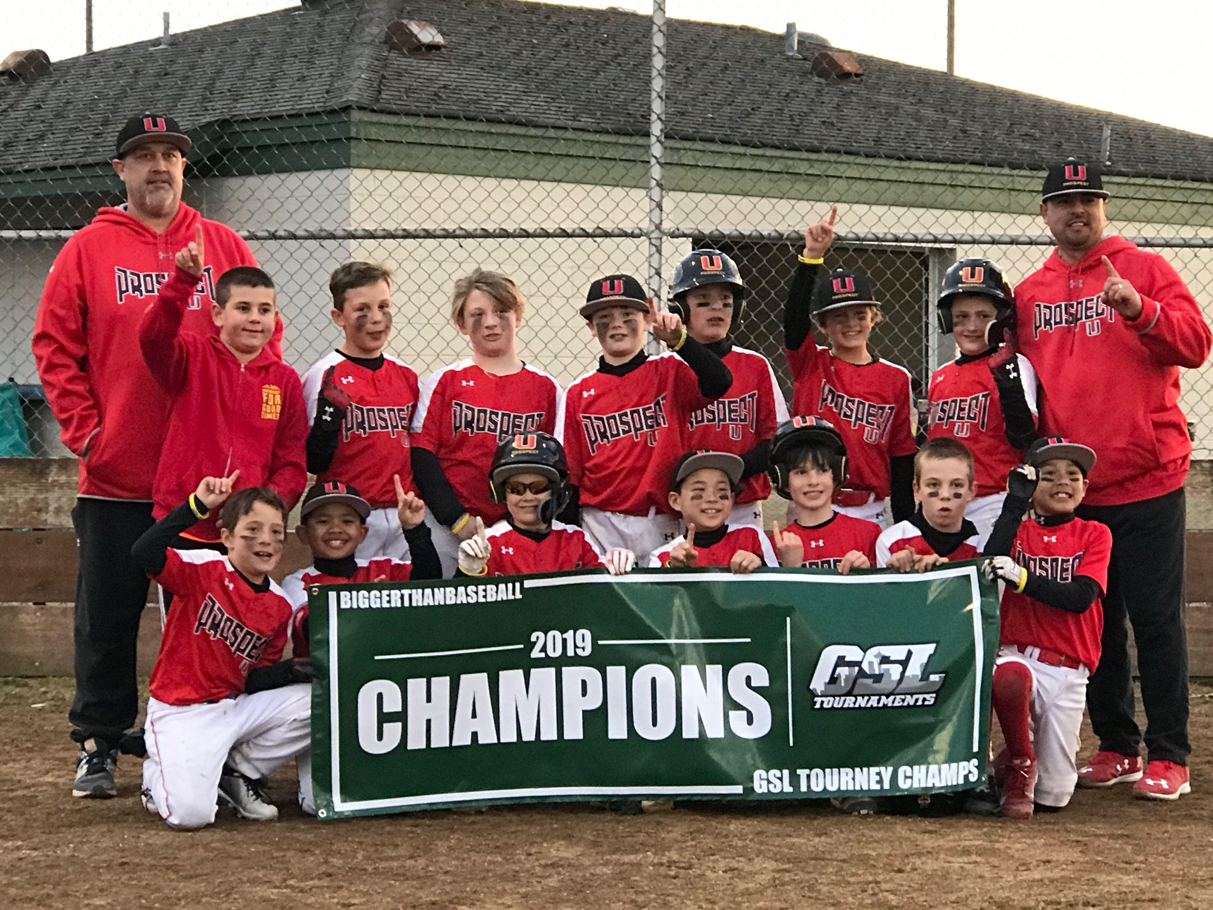 You 2019 11u Gsl Champions Prospect United Softball League Softball Camp Nationals Baseball